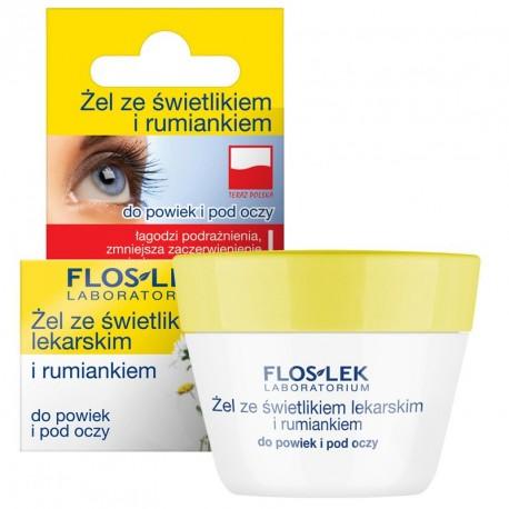 Żel ze świetlikiem lekarskim i rumiankiem do powiek i pod oczy, poj. 10 g.