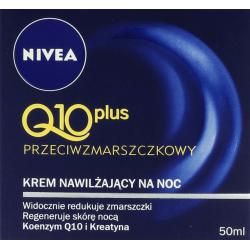 Q10 plus, przeciwzmarszczkowy krem nawilżający na noc, poj. 50 ml.