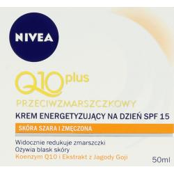 Q10 plus, przeciwzmarszczkowy krem energetyzujący na dzień, poj. 50 ml.