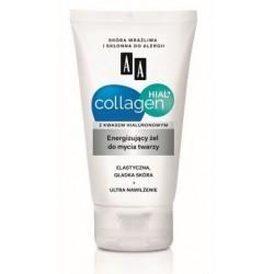 AA Collagen Hial+ Energizujący żel do mycia twarzy, poj. 150 ml.