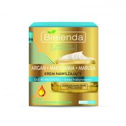 ARGAN + MAKADAMIA + MARULA - Krem nawilżający + kwas hialuronowy DZIEŃ/ NOC, poj. 50 ml.