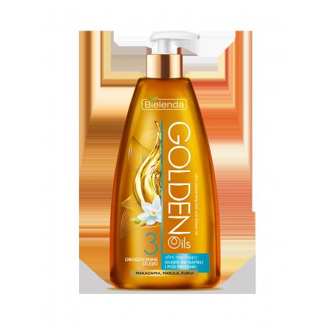 GOLDEN OILS - Ultra nawilżający olejek do kąpieli i pod prysznic z drogocennymi olejkami, poj. 250 ml.