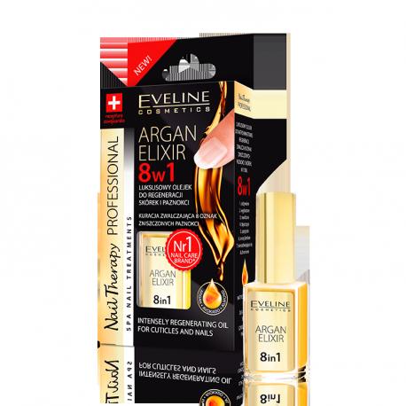 ARGAN ELIXIR 8w1 - Luksusowy olejek do regeneracji skórek i paznokci z olejem arganowym, poj. 12 ml.