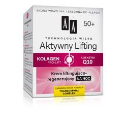 Technologia Wieku 50+ Aktywny Lifting - Krem liftingująco-regenerujący na noc, poj. 50 ml.