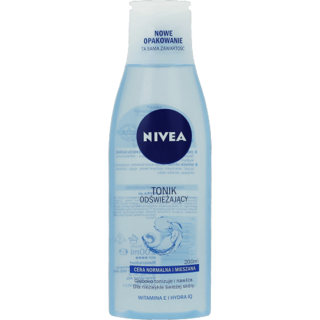 Nivea - tonik odświeżający do cery normalnej i mieszanej, poj. 200 ml.