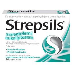 Strepsils - pastylki mentolowo - eukaliptusowe, 24 szt