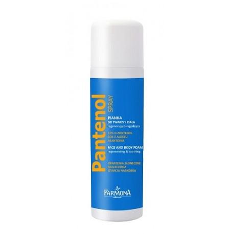 PANTENOL - Pianka do twarzy i ciała regenerująco-łagodząca, spray, poj. 150 ml.