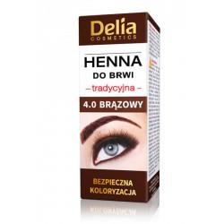 Henna do brwi, tradycyjna, brązowy 4.0