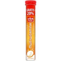 Vitamuss multiwitamina, tabletki musujące o smaku tropikalnym, 24 szt.