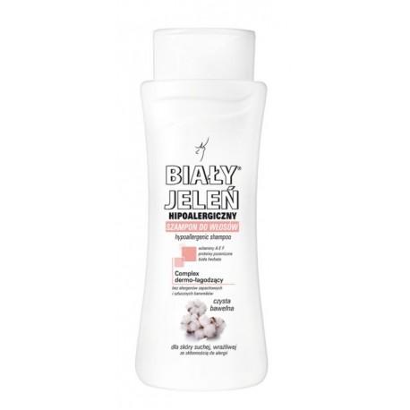 Hipoalergiczny szampon BIAŁY JELEŃ z czystą bawełną, poj. 300 ml.