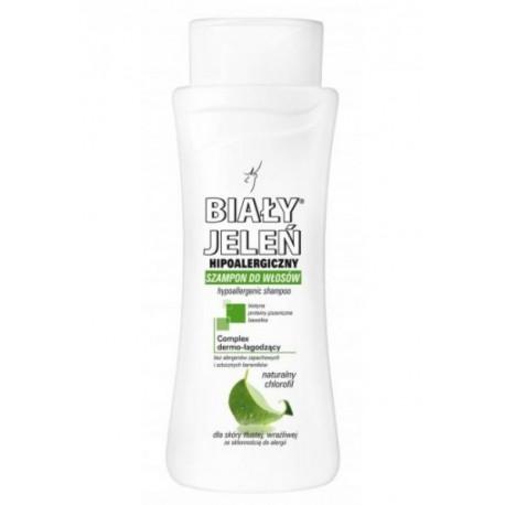 Hipoalergiczny szampon BIAŁY JELEŃ z naturalnym chlorofilem, poj. 300 ml.