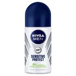 Nivea Men Sensitive Protect 48h - antyperspirant, roll-on, poj. 50 ml.