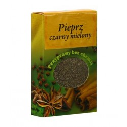 Pieprz czarny mielony - przyprawy bez chemii, poj. 50 g