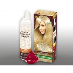 Henna Color - pianka koloryzująca do włosów No 1, słoneczny blond