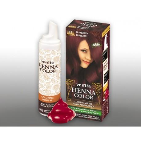 Henna Color - pianka koloryzująca do włosów No 11, burgund