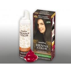 Henna Color - pianka koloryzująca do włosów No 19, czarna czekolada