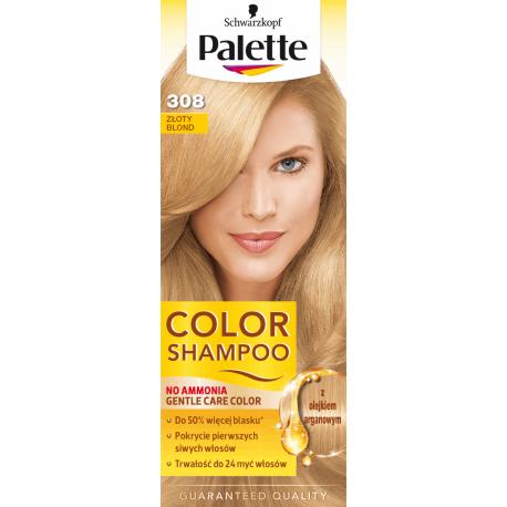 Palette Color Shampoo - szampon koloryzujący bez amoniaku, nr 308 Złoty Blond