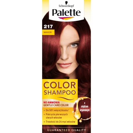 Palette Color Shampoo - szampon koloryzujący bez amoniaku, nr 217 Mahoń