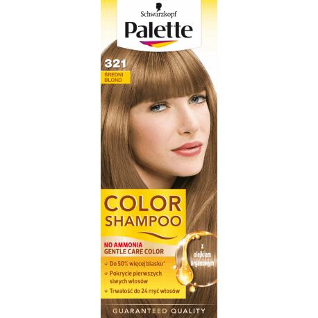 Palette Color Shampoo - szampon koloryzujący bez amoniaku, nr 321 Średni Blond