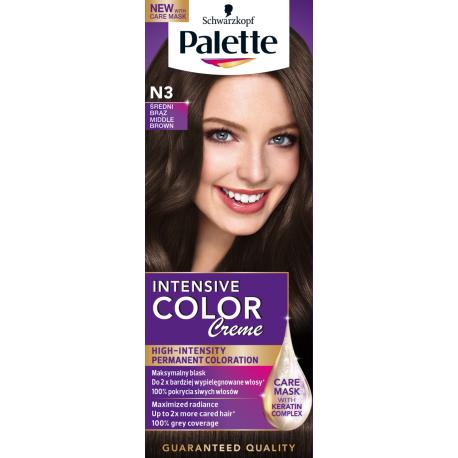 Palette Intensive Color Creme - krem koloryzujący, N3 Średni Brąz