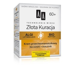 Technologia Wieku 60+ Złota Kuracja - krem przeciwzmarszczkowy na dzień, poj. 50 ml.