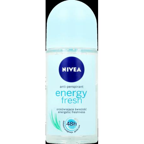 Nivea Energy Fresh 48h - antyperspirant, roll-on, poj. 50 ml