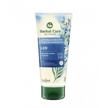 Herbal Care - odżywka ziołowa do włosów Len, poj. 200 ml.