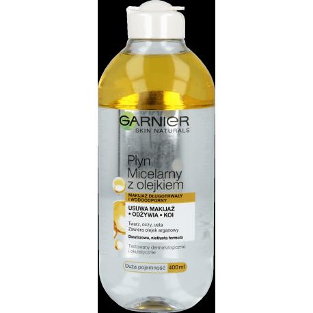 Garnier Skin Naturals - płyn micelarny z olejkiem arganowym, poj. 400 ml.