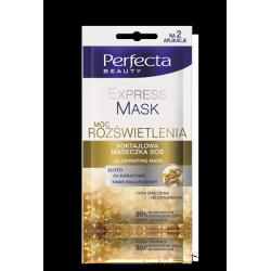 Perfecta Beauty EXPRESS MASK - koktajlowa MASECZKA SOS moc rozświetlenia, poj. 10 ml