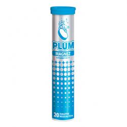 Kruger PLUM Magnez – tabletki musujące o smaku cytrynowym, 20 szt.