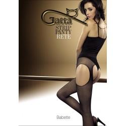 Babette Rete w.01 - rajstopy damskie Strip Panty typu kabaretki