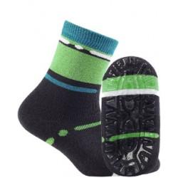 KIDDY ABS w.708 - skarpetki wzorzyste bawełniane frotte z ABS, chłopięce, 2-6 lat