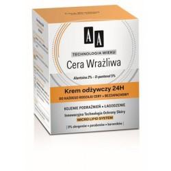 AA Technologia Wieku Cera Wrażliwa - krem odżywczy 24h, poj. 50 ml