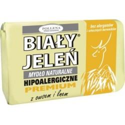 Biały Jeleń - hipoalergiczne mydło naturalne PREMIUM z owsem, poj. 100 g