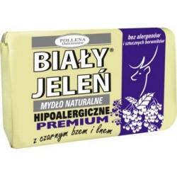 Biały Jeleń - hipoalergiczne mydło naturalne PREMIUM z czarnym bzem, poj. 100 g