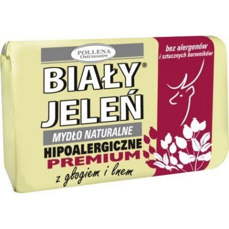 Biały Jeleń - hipoalergiczne mydło naturalne PREMIUM z głogiem, poj. 100 g