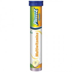 Plusssz Classic Multiwitamina, tabletki musujące, smak pomarańcza - marakuja, 20 szt.