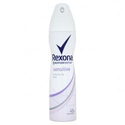 Rexona Sensitive - antyperspirant w aerozolu dla kobiet, poj. 150 ml