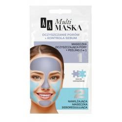 AA Multi Maska - oczyszczanie porów + kontrola sebum, poj. 10 ml