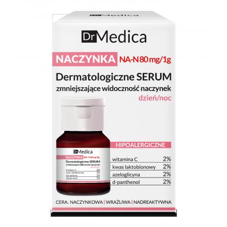 Dr Medica NACZYNKA - dermatologiczne serum zmniejszające widoczność naczynek HIPOALERGICZNE dzień/noc, poj. 30 ml