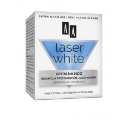 AA LASER WHITE - krem na noc, redukcja przebarwień + odżywienie, poj. 50 ml