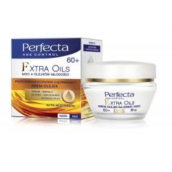 Perfecta Extra Oils - krem-olejek przeciwzmarszczkowo-ujędrniający na dzień i noc 60+, poj. 50 ml