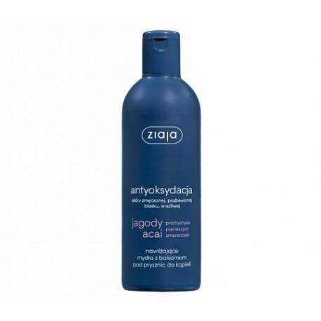 Ziaja Jagody Acai - nawilżające mydło z balsamem pod prysznic do kąpieli, poj. 300 ml