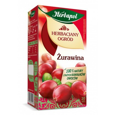 Herbaciany Ogród, Żurawina - herbatka owocowo-ziołowa, poj. 50 g (20 saszetek x 2,5 g)
