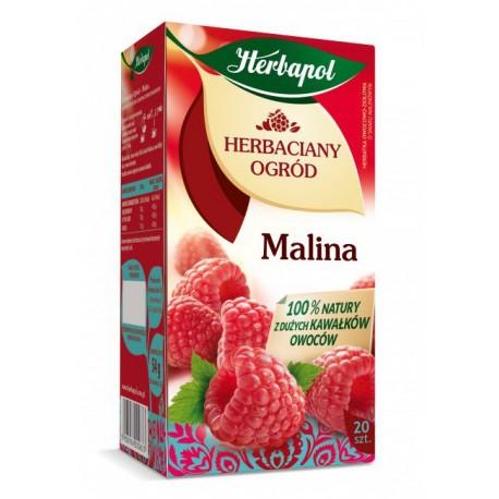 Herbaciany Ogród, Malina - herbatka owocowo-ziołowa, poj. 60 g (20 saszetek x 3 g)