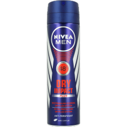NIVEA MEN Dry Impact - antyperspirant w sprayu, 48h, poj. 150 ml