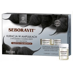 Seboravit - kuracja w ampułkach z wyciągiem z czarnej rzepy, poj. 5 ampułek x 5 ml