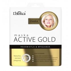 Maska Active Gold - hydrożelowa maska na tkaninie, poj. 25 g