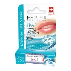 Eveline Lip Therapy Professional - 8w1 Total Action, Sensitive, skoncentrowane serum do ust, poj. 0,2 g