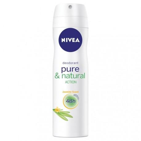 NIVEA Pure and Natural Action Jasmine Scent 48 h - dezodorant w aerozolu dla kobiet, poj. 150 ml